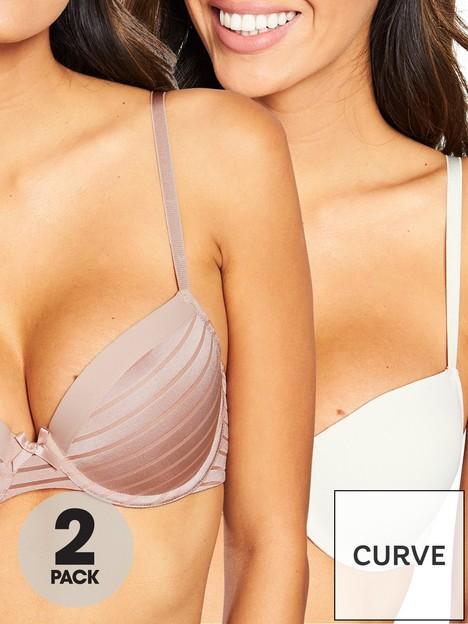 dorina-louise-2-pack-t-shirt-bra-blush-and-white