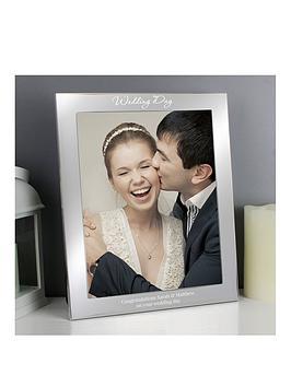 personalised-silver-finish-10x8-wedding-day-photo-frame