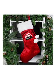 personalised-santa-claws-christmas-cat-stocking