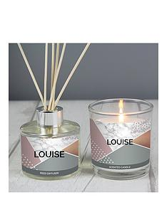 geometric-personalised-candle-and-diffusernbspgift-set