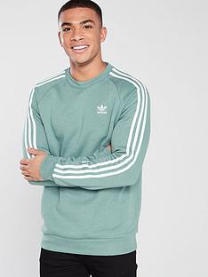 adidas-originals-3-stripe-crew-neck-sweat-green