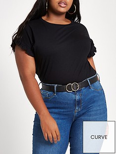 ri-plus-frill-sleeve-t-shirt-black