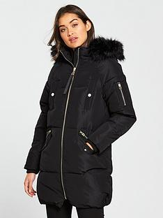 river-island-river-island-faux-fur-hooded-padded-jacket--black