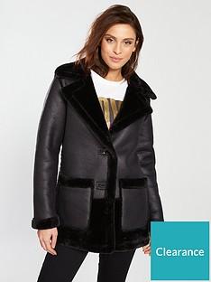river-island-river-island-faux-fur-reversible-car-coat--black