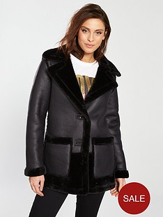 river-island-river-island-faux-fur-reversible-car-coat--black