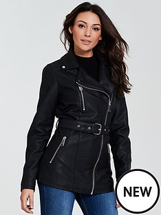 michelle-keegan-punbsplongline-jacket-black