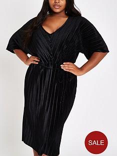 ri-plus-plisse-midi-dress-black