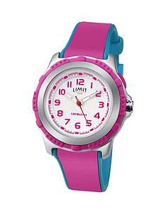 limit-limit-100-meters-waterproof-white-and-pink-detail-dial-pink-and-blue-silicone-strap-kids-watch