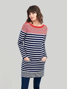 joules-freida-knitted-tunic-redblack