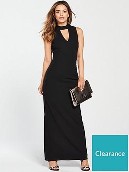 v-by-very-petite-high-neck-maxi-dress-blacknbsp
