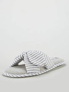 v-by-very-wendy-knot-bow-slipper-grey
