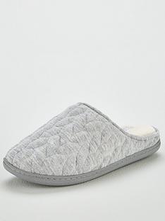 v-by-very-wallow-twist-detail-slipper-mule-grey