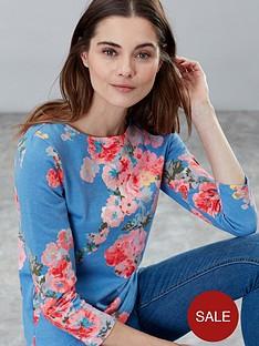 joules-harbour-floral-top-blue