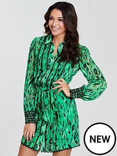 michelle-keegan-printed-lace-trim-shirt-dress-print