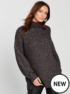 karen-millen-chunky-lurex-knit-jumper