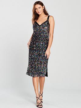 Disco Sequin Midi Dress