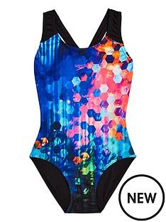 speedo-girls-spot-print-splashback-swimsuit-black