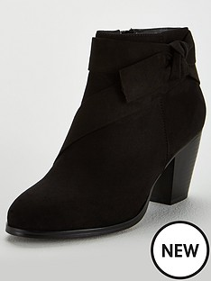 v-by-very-farris-knot-detail-block-heel-ankle-boot