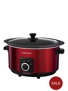 morphy-richards-evoke-65-litre-manual-slow-cooker-red