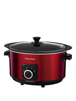 morphy-richards-evoke-65-litre-manual-slow-cooker-red