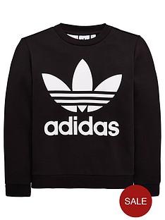 adidas-originals-boys-fleece-trefoil-crew-blacknbsp