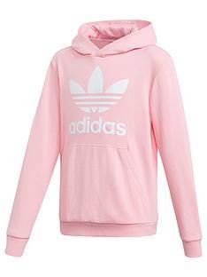 6c9d437c96e9 adidas Originals Girls Trefoil Hoodie - Pink