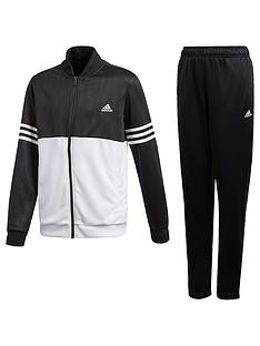 adidas Boys Ts Tracksuit - Black White 4e7a05cd2f