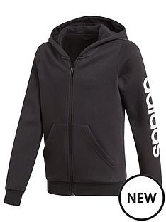 adidas-girls-linear-fz-hoodie