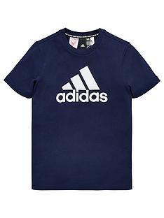 4f877b7f8a19 adidas Boys T-Shirt - Navy
