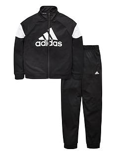 adidas-boys-badge-of-sport-tracksuit-black