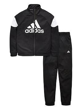 adidas-boys-badge-of-sport-tracksuit-black