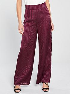 miss-selfridge-stripe-wide-leg-trouser-burgundy