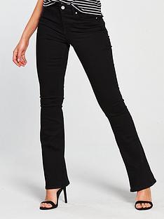 miss-selfridge-lizzie-flare-jean-black