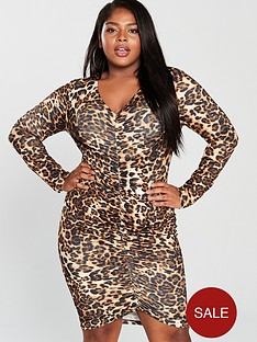 ax-paris-curve-leopard-print-ruched-detail-midi-dress-printednbsp
