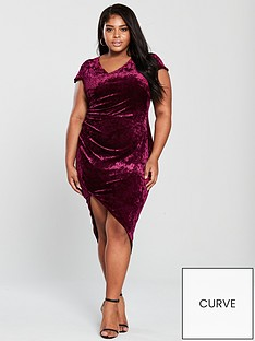 ax-paris-curve-velvet-wrap-dress-plumnbsp