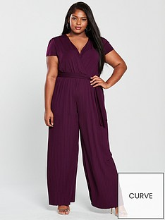 ax-paris-curve-cap-sleeve-pleat-leg-jumpsuit-plum