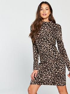 warehouse-animal-knitted-dress