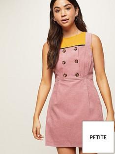 miss-selfridge-petite-cord-button-front-pinny-dress-pink