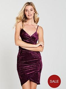 ax-paris-velvet-wrap-dress-plumnbsp
