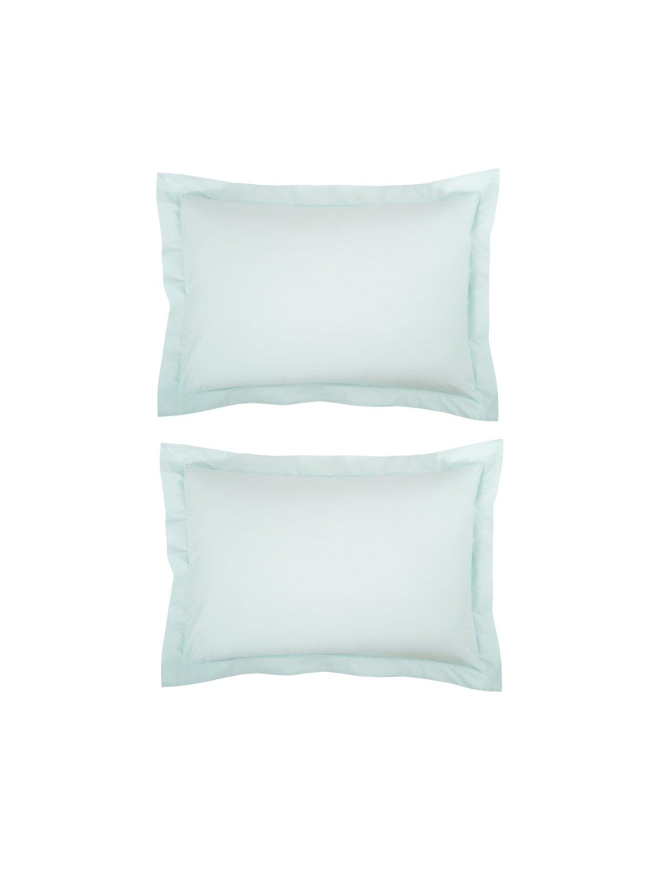 Pair Elite Textiles® Microfibre Housewife Pillow Cases Cream