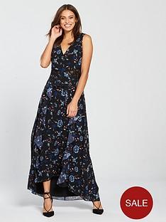 1bbd332214 Little Mistress Minnie Floral Lace Insert Maxi Dress - Multi