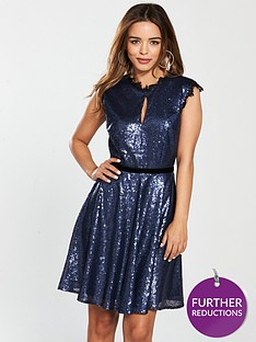 little-mistress-petite-sequin-skater-dress-navy