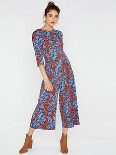 girls-on-film-printed-jumpsuit-with-tie-back-brown