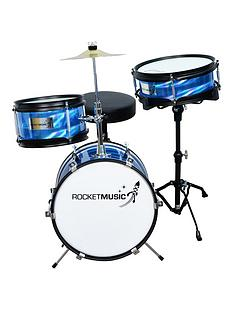 rocket-rocket-3-piece-junior-drum-kit-blue-with-free-online-music-lessons