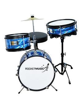 rocket-rocket-3-piece-junior-drum-kit-blue-with-free-online-music-lessons