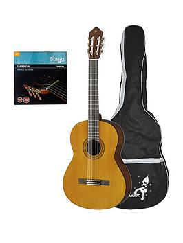 yamaha-c40ii-full-size-classical-guitar-natural-with-free-online-music-lessons