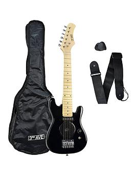 3rd-avenue-3rd-avenue-14-size-electric-guitar-with-integral-amp-black-with-free-online-music-lessons
