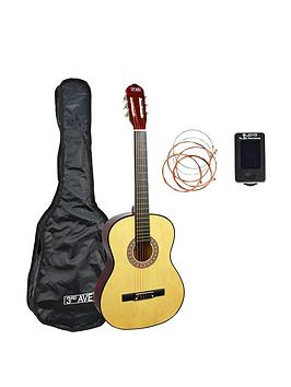 3rd-avenue-full-size-classical-guitar-pack-natural-with-free-online-music-lessons