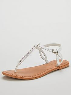 v-by-very-harmony-leather-embellished-toe-post-sandals-white