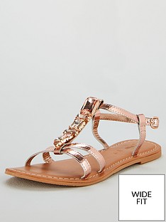 v-by-very-honey-jewel-trim-leather-flat-sandals-rose-gold